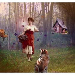 Chaperon (Rouge) (collage numérique)