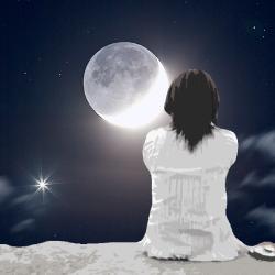 Dame Lune (collage numérique)