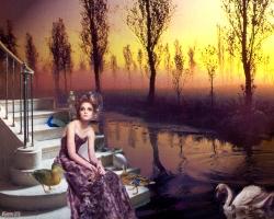 Dame du Marais (collage numérique)