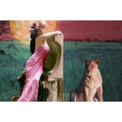 Lion (collage numérique)