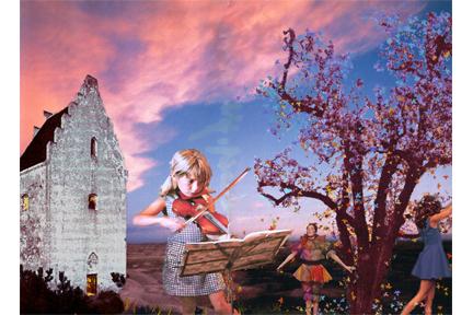 Rode des saisons (collage numérique)