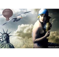 Verseau (collage numérique)