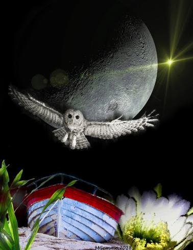 La Lune / The Moon (collage numérique)
